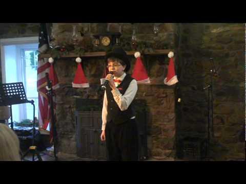 Cameron sings Rudolph