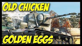 ► Old Chicken Laying Golden Eggs! - World of Tanks KV-5