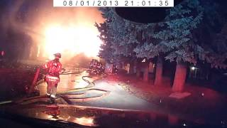 Boise Hill Road fire collapse caught on tape