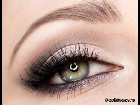 Выделить глаза черными тенями