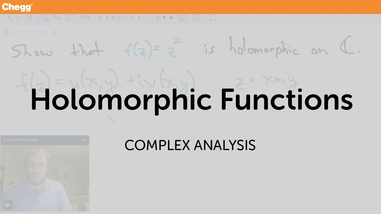 Holomorphic functions complex analysis chegg tutors youtube sciox Image collections