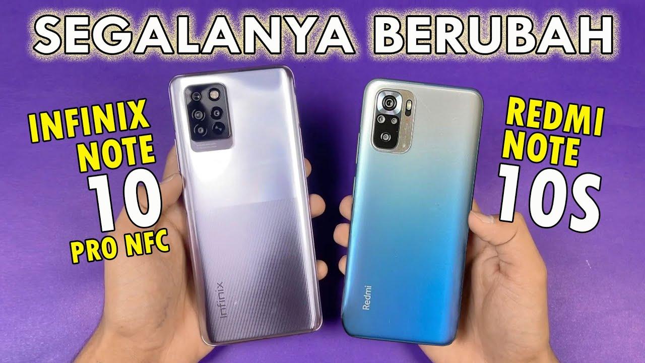 Infinix Note 10 Pro NFC VS Redmi Note 10S Versi RESMI INDONESIA   Meskipun SULIT, Pilih Mana?