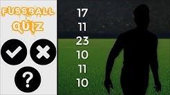 Erkennst du den Fußballer an dessen Rückennummern? ⚽ Fußball Quiz 2019