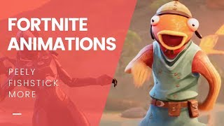ALL Fortnite Pro-Am 2019 Animations | Fishstick, Peely, Noms & MORE