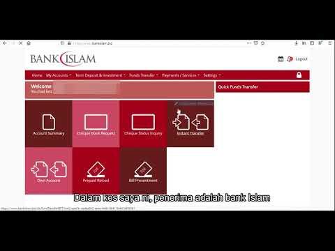Cara Mudah Transfer Duit Melalui Perbankan Online Bank Islam Youtube