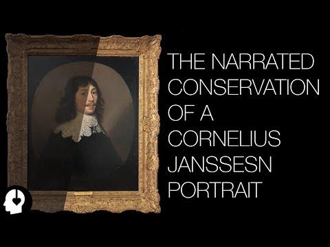 The Conservation of a Cornelius Janssens Portrait (ASMR ish)