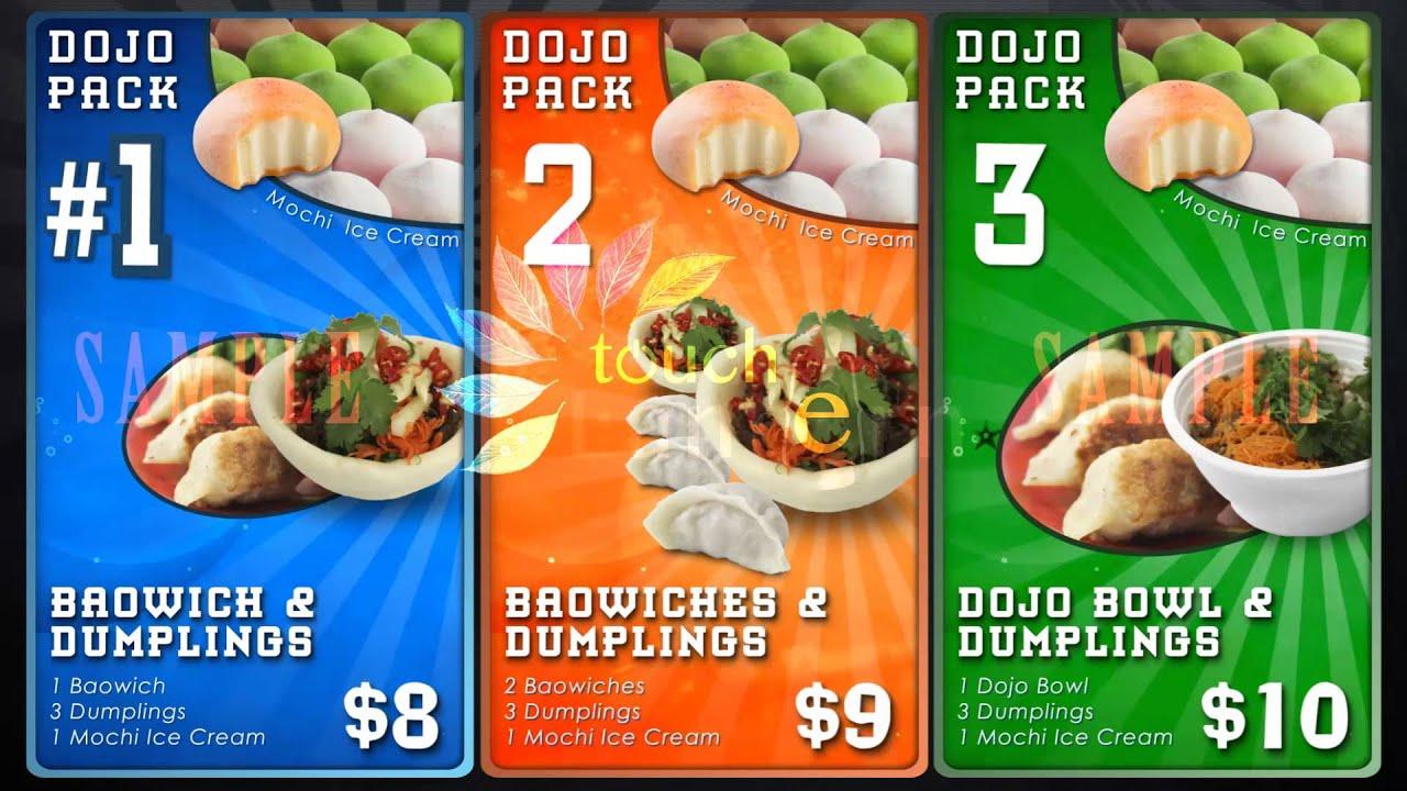 Digital Menu Board System Food Menu 1512 Touch Lantern