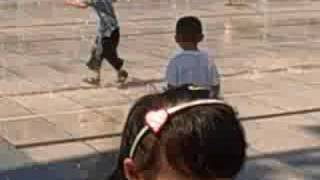 Children Playing in Olympic Green Fountain