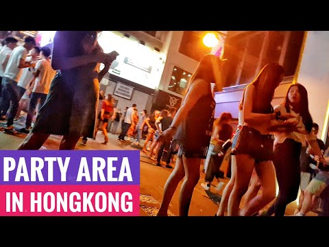 Hong Kong's Party Street Lan Kwai Fong (LKF) - famous sightseeing
