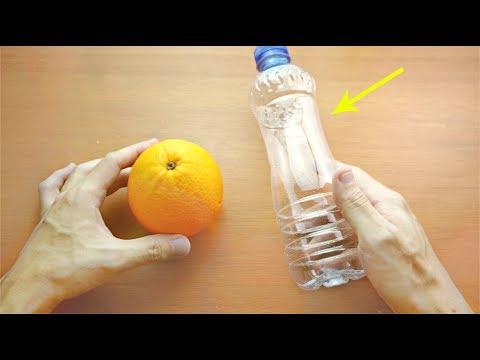 別傻傻用手擠橙子了!用一個寶特瓶輕鬆擠出橙汁!太神奇、太實用了!
