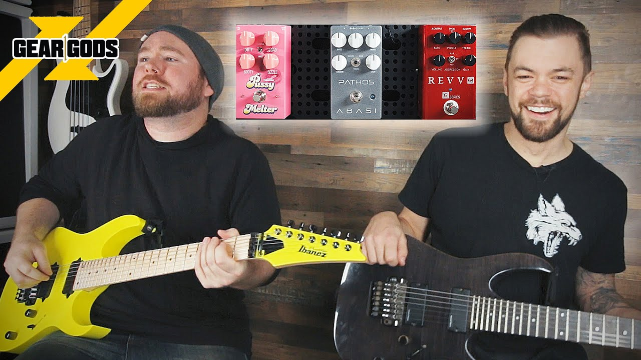 3 Modern Distortion Pedals Compared With Trent Hafdahl From AFTER THE BURIAL | GEAR GODS