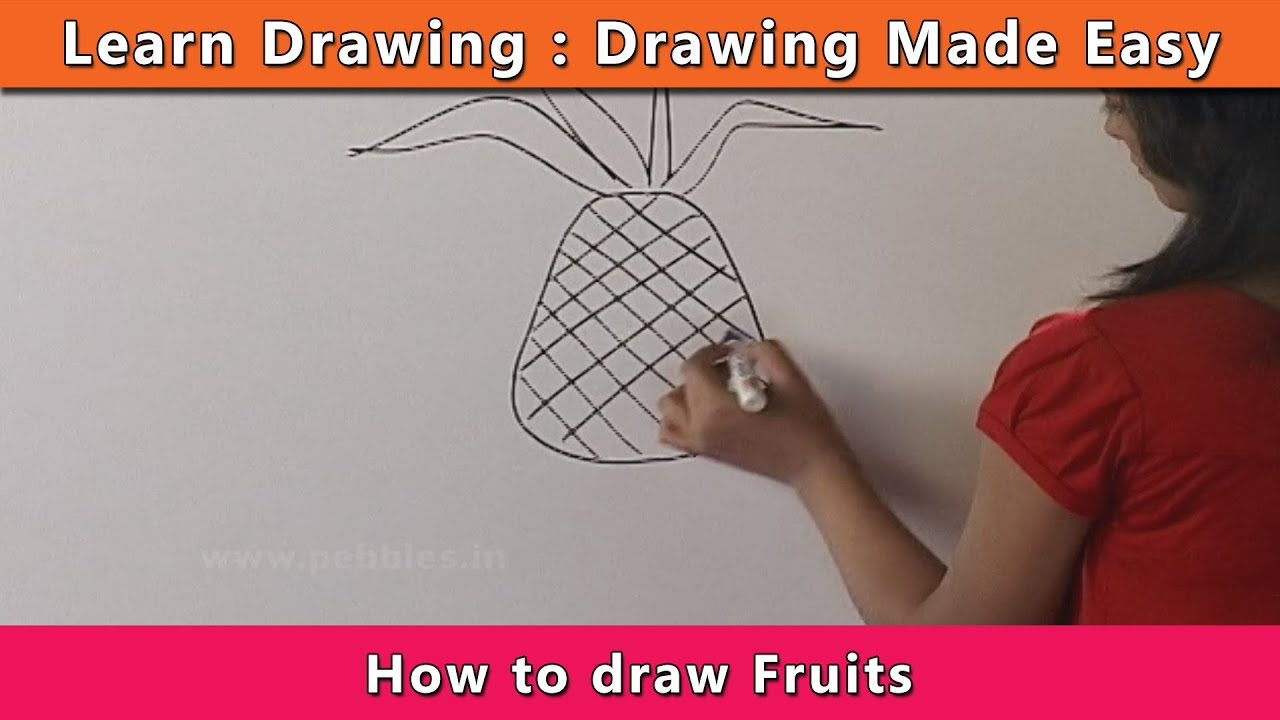 How to draw fruits learn drawing for kids learn for Learn drawing online step by step