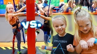 PEYTON vs. EVERLEIGH Indoor Playground Challenge! **Birthday Party**