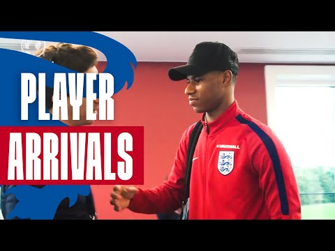 Rashford, Hart & the England Squad Arrive in Preparation for Slovenia Match  | Inside Access