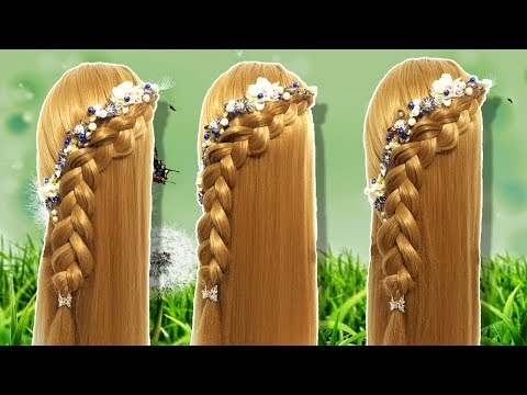 Wedding guest hairstyle in just 2 minutes | Beautiful hairstyles for long hair | Hairstyle for girl thumbnail