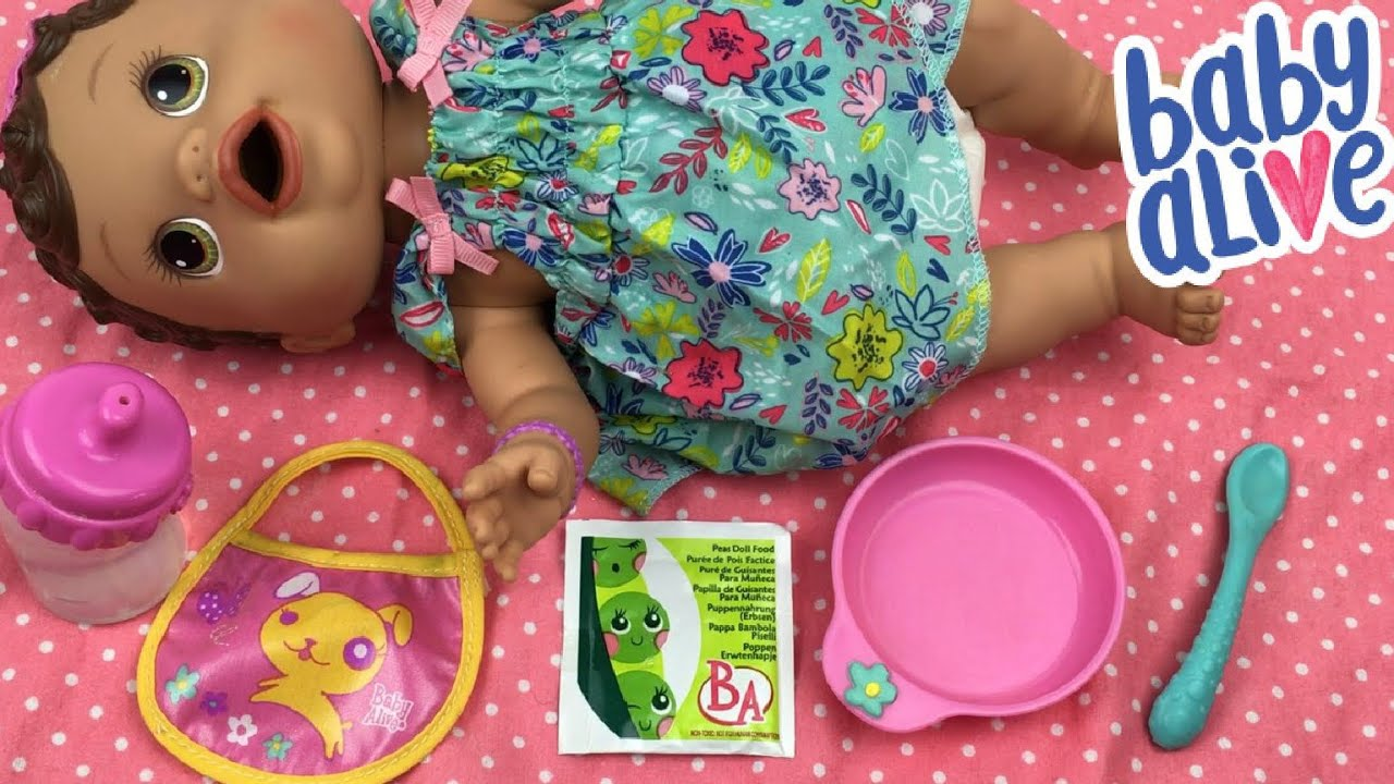 Feeding Baby Alive Changing Time Baby Olivia Peas Doll