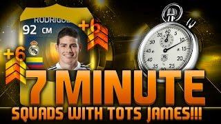 FIFA 15 - 7 MINUTE SQUADS!!! TEAM OF THE SEASON JAMES RODRIGUEZ!!! Fifa 15 Hybrid Squad Builder