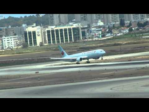 Air Canada Boeing 763 Landing At Bengurion Airport-Israel