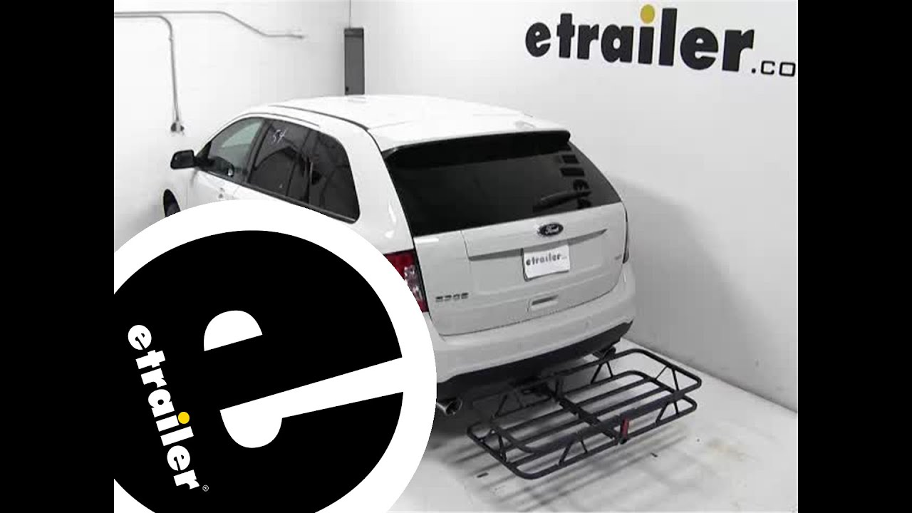Review of the curt hitch cargo carrier on a 2013 ford edge etrailer com