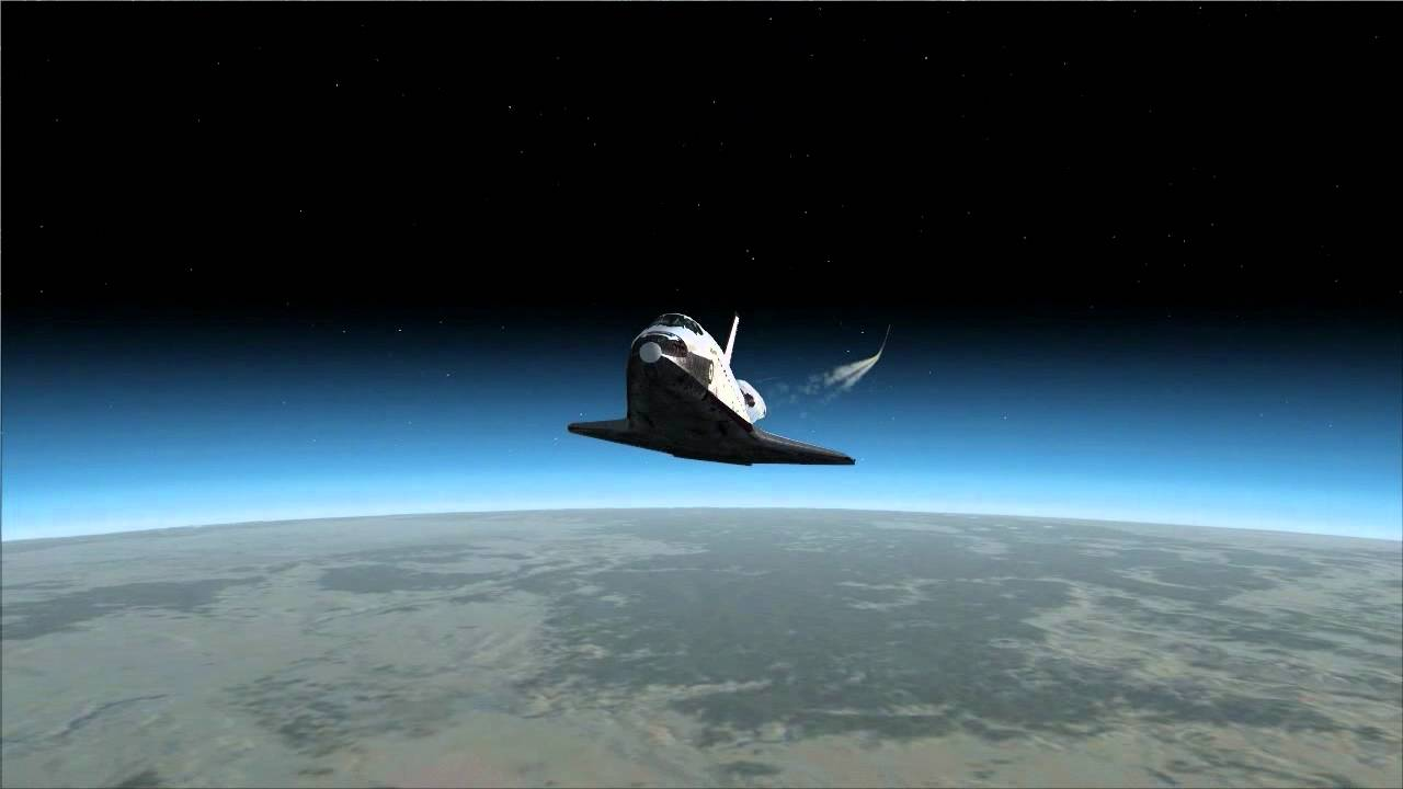 FSX Space Shuttle Atlantis flight - YouTube