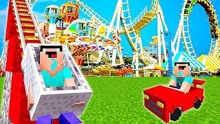 НУБ НАШЕЛ ПАРК РАЗВЛЕЧЕНИЙ В Майнкрафте! Minecraft Мультики Майнкрафт троллинг Нуб и Про