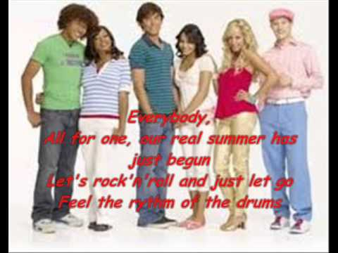 High School Musical 2 - All for one - lyrics