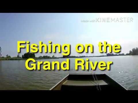 FISHING THE GRAND RIVER IN DUNNVILLE , ONTARIO