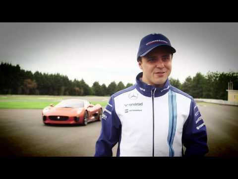 Jaguar C-X75 | Felipe Massa Drives the C-X75 from Spectre in Mexico City