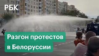 Водометы и стрельба: ОМОН разогнал протестующих в Минске, Бресте и Витебске. Протесты в Белоруссии