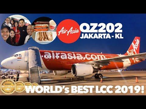 AirAsia QZ 202 Jakarta - KL | World's BEST Low Cost Carrier 2019!