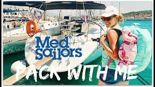 PACK WITH ME FOR A WEEK AT SEA WITH MEDSAILORS!