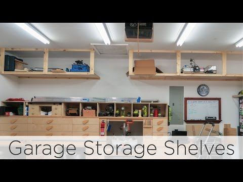 Wasted Space Garage Storage Shelves 202 Youtube