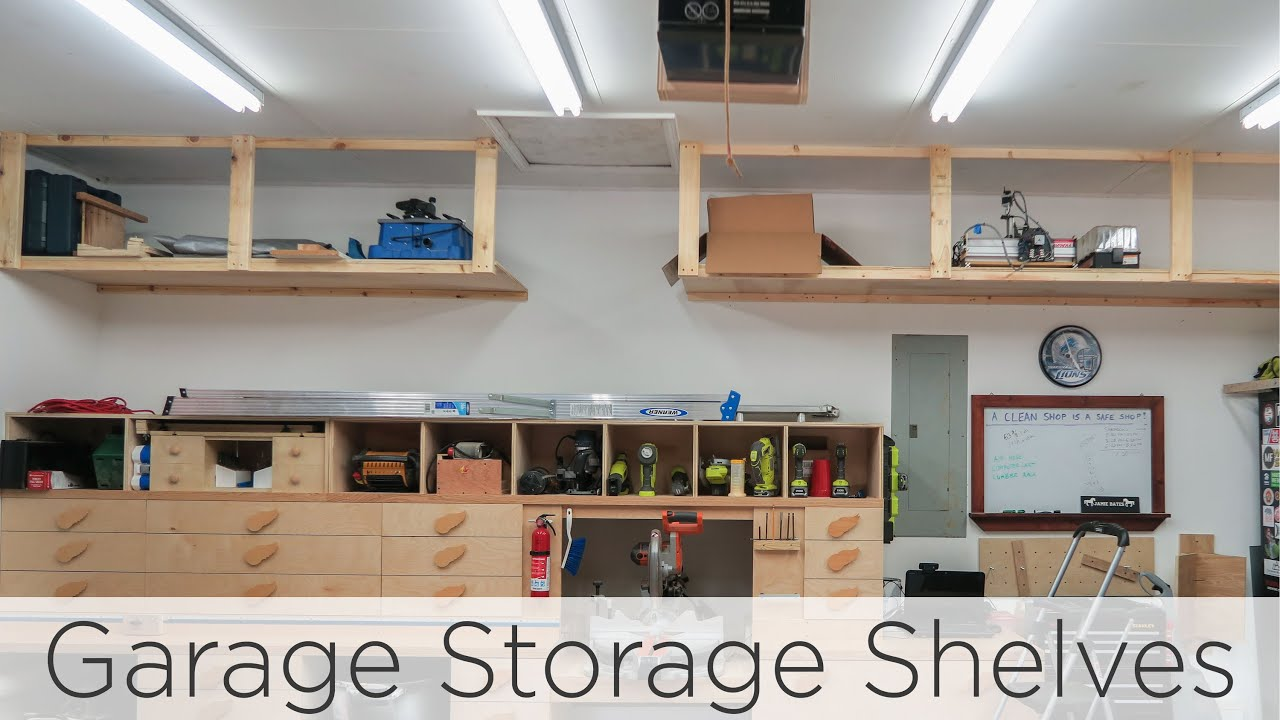 5 Quick And Cheap Garage Organizing Ideas Part - 50: Wasted Space Garage Storage Shelves - 202 - YouTube