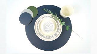 [주방용품] 테이블매트 - 타원형 테이블 매트ㅣ리빙첵 …