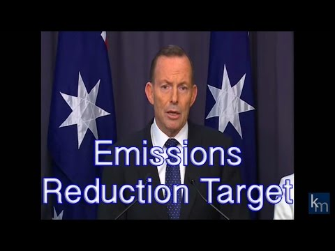 Prime Minister Tony Abbott announces Australia's Emissions Reduction Target