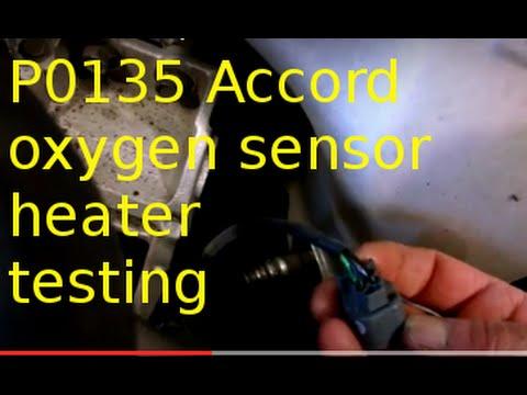 P0135 Oxygen sensor code 2002 Honda Accord 2.2L sensor 1 heater failure