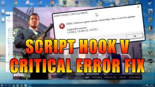 """GTA V Script Hook V """"Critical/FATAL Error"""" Solution 2020! (READ DESCRIPTION/COMMENTS)"""