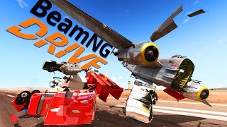 Airplanes and Cars! - BeamNG.drive Gameplay - BeamNG.drive Mods