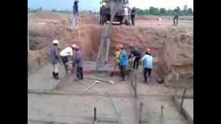 115 22 kv substation ban nongdeun project pouring concrete lean laos flv