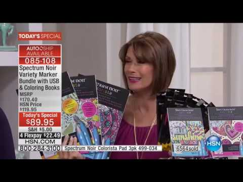 HSN Crafters Companion Featuring Spectrum Noir 08 30 2016 01 PM