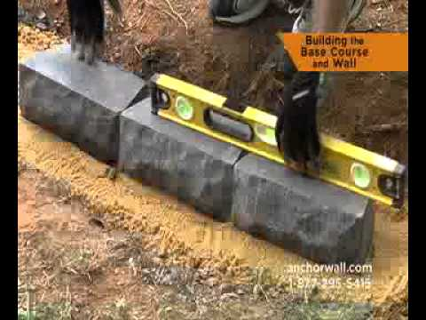 How To Build A Small Retaining Wall Youtube