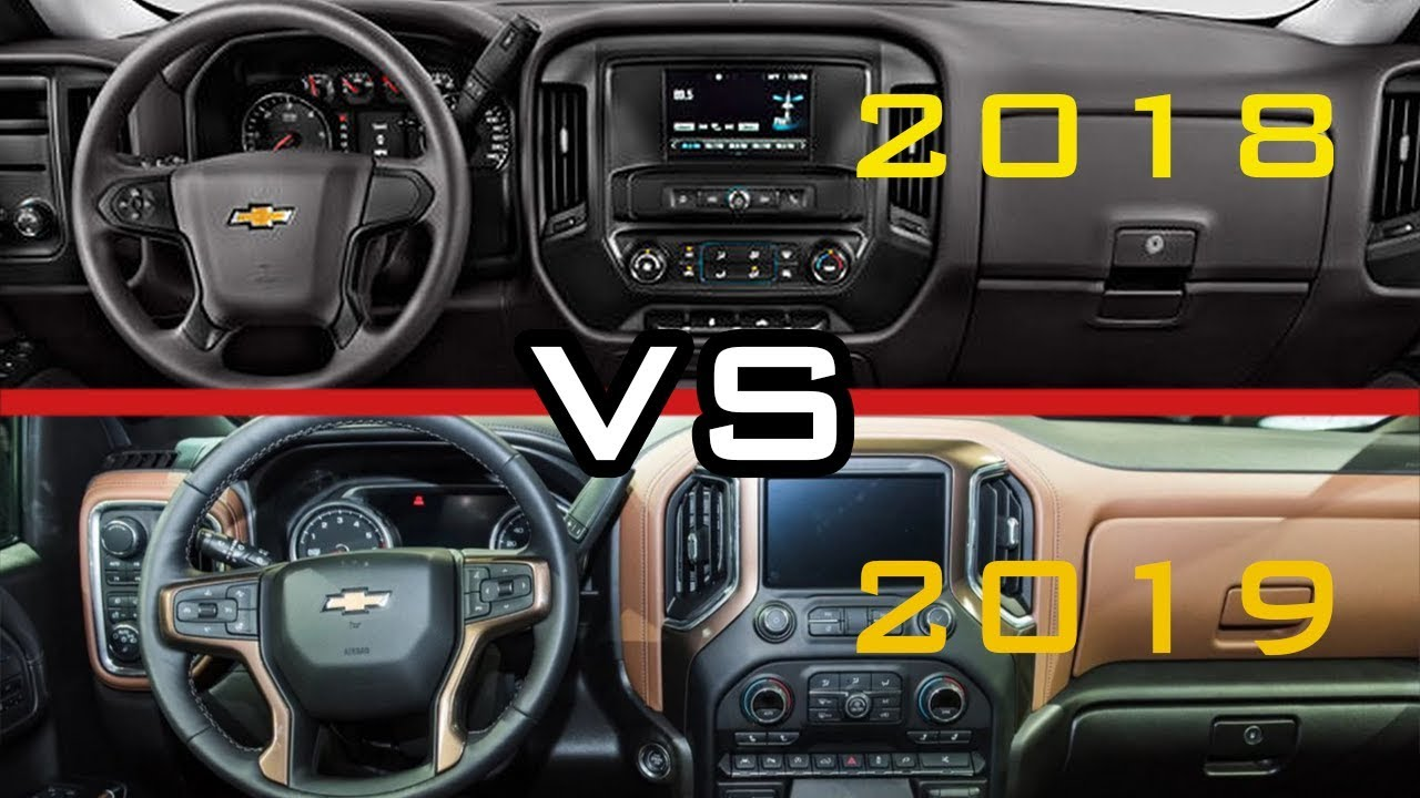 2018 vs 2019  chevy silverado 1500 interior