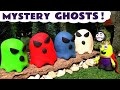 Funny Funlings Spooky Ghosts with Play Doh candy - A fun story for kids and children