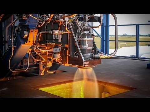 SpaceX SuperDraco Thruster Firing