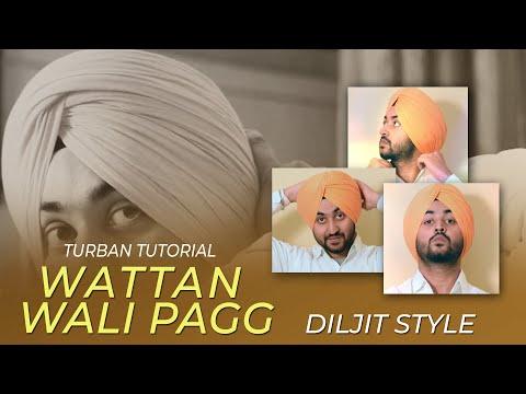 Turban tutorial | Diljit Dosanjh Style | Freestyle Wattan vali pagg