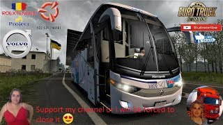 Euro Truck Simulator 2 (1.36)   Bus Marcopolo G7 1350 Volvo 6x2 V1.3 Road to Ukraine Roextended Project v2.5 (all DLC's) by Arayas Naturalux Graphics and Weather + DLC's & Mods  Support me please thanks Support me economically at the mail vanelli.isabella