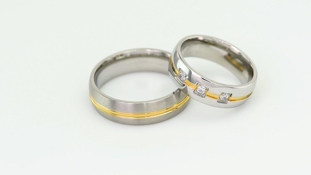 Zlate Snubni Prsteny S Diamanty Tesel Youtube