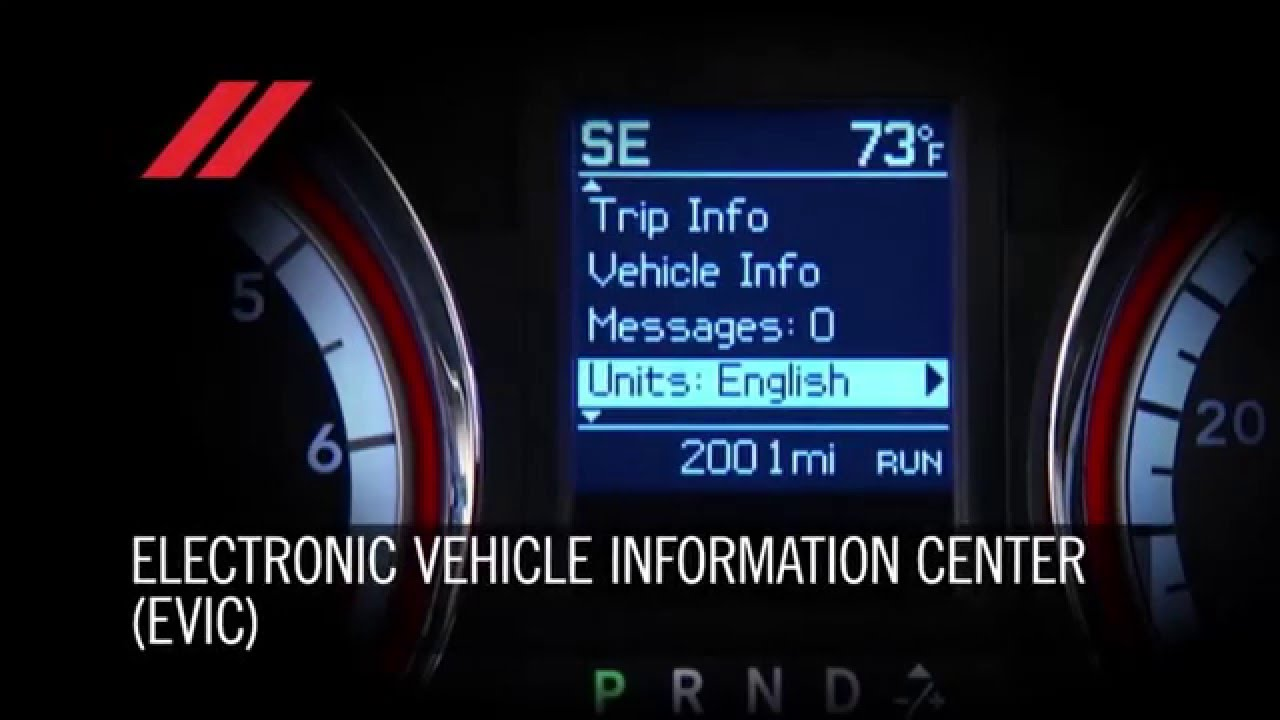 2016 Dodge Grand Caravan Electronic Vehicle Information