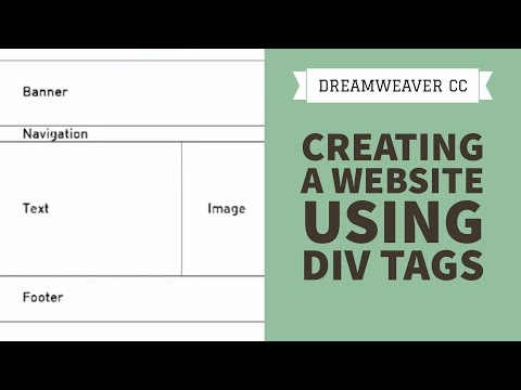 Creating A Website Using Div Tags In Dreamweaver CC [25/34]