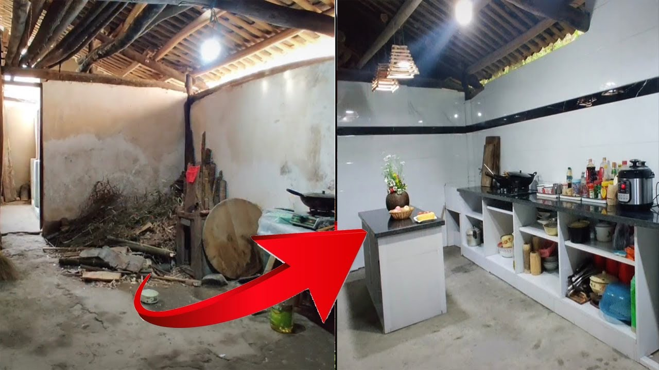Renovate The Old Kitchen Into A Beautiful Clean Kitchen Great Home Decor Ideas 267 Youtube